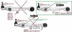 Suspension Front Suspension Arm Set Kit For Audi A4 2000-2009