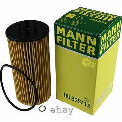 10L MANNOL 5W-30 Break Ll + Mann-Filter Audi Toute Route 4BH C5 4.2 V8 Quattro