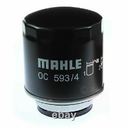 10x Original Mahle / Knecht Filtre Oc 593/4+10x Sct Moteur Flush Rinçage de