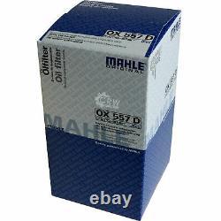 10x Original Mahle / Knecht Filtre Ox 557D+10x Sct Moteur Flush Rinçage de