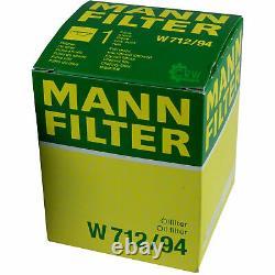10x Original Mann Filtre à Huile W 712/94 + 10x Sct Moteur Flush Rinçage de