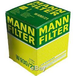 10x Original Mann Filtre à Huile W 930/21 + 10x Sct Moteur Flush Rinçage de