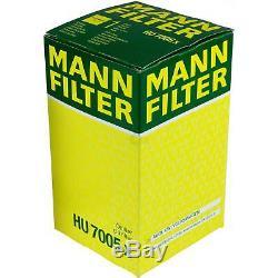 3x Original Mann Filtre à Huile Hu 7005 X + 3x Sct Moteur Flush Rinçage de