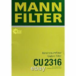 5x Mann Filtre D'Habitacle mannol Filtre à Air Seat Ibiza V 6J5 1.2 1.6