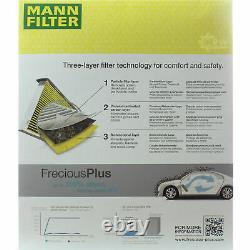 5x Mann Filtre Filtre D'Habitacle Filtre à Air Pour VW Polo 6N1 55 1.3 75 1.6