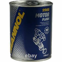 5x Original Mann Filtre à Huile Hu 8010 Z + 5x Sct Moteur Flush Rinçage de