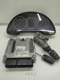 Audi A4 S4 B7 8E 8H 2007 Diesel Moteur ECU Kit Et Serrure Set 8E0920901D NEJ1998