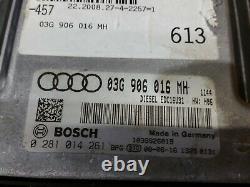 Audi A6 C6 Allumage Kit Écu Set Verrou 03G906016MH 2.0 Tdi Bre 2009