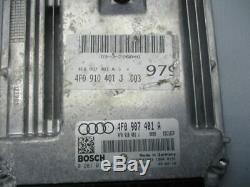 Audi A6 avant (4F5, C6) 3.0 Tdi Bmk Commande Moteur 4F0910401J Set de Serrures