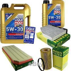 Filtre Set Kit +5W30 Huile Moteur pour VW Golf VI 5K1 V 1K1 517 Audi A3