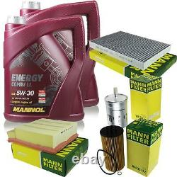 Huile moteur 10L MANNOL 5W-30 Break Ll + Mann-Filter Audi A4 8E2 B6 S4 Quattro