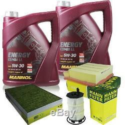 Huile moteur 10L MANNOL 5W-30 Break Ll + Mann-Filter Audi A4 8EC B7 RS4 Quatro