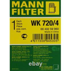 Huile moteur 10L MANNOL Classic 10W-40 + Mann-Filter filtre Audi A4 8EC B7