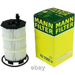 Huile moteur 8L MANNOL 5W-30 Break Ll + Mann-Filter Audi A8 4E 4.2 FSI Quattro