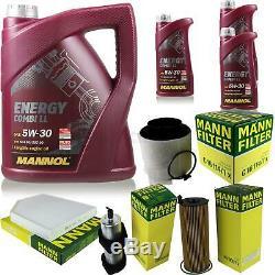 Huile moteur 8L MANNOL 5W-30 Break Ll + Mann-Filter filtre Audi A5 8T3