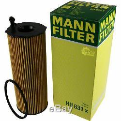 Huile moteur 8L MANNOL 5W-30 Break Ll + Mann-Filter filtre Audi A5 8T3 2.7 Tdi