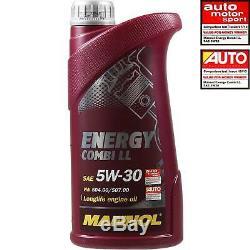 Inspection Set 9 L MANNOL Energy Combi Ll 5W-30 + Mann filtre 10938967