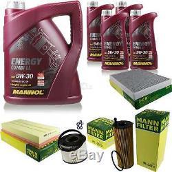 Inspection Set 9 L MANNOL Energy Combi Ll 5W-30 + Mann filtre 10938982