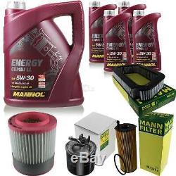 Inspection Set 9 L Mannol Energy Combi Ll 5W-30 + Mann Filtre 10939042