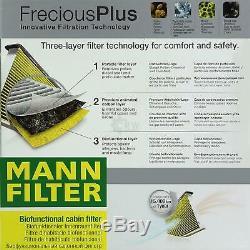 Inspection Set Mann-Filter Kit 5W30 Longlife Huile Moteur Audi, A6 avant 4G5 C7
