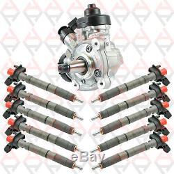 Kit 6 Injecteurs Piezo + Pompe Injection A Haute Pression 0445115037 0445115024