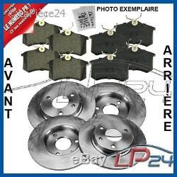 Kit Jeu Set 4 Disques De Frein + 8 Plaquettes Essieu Avant + Arrière 31887697
