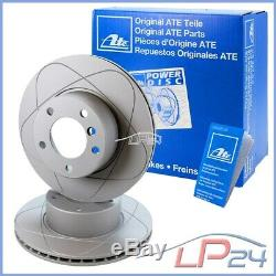 Kit Jeu Set Ate Power Disc Disques 24.0330-0113.1 + Plaquettes De Frein Avant