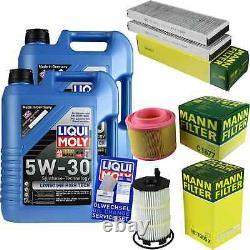 LIQUI MOLY 10L 5W-30 huile moteur + Mann-Filter pour Audi A6 Avant 4F5 C6 S6