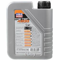 LIQUI MOLY 8L Toptec 4200 5W-30 huile moteur + Mann-Filter Set pour Audi A8 4D2