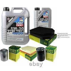Liqui Moly 6L Toptec 4600 5W-40 huile moteur + Mann Set pour Audi A8 4D2 4D8