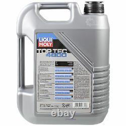 Liqui Moly 8L Toptec 4600 5W-40 huile moteur + Mann-Filter Set pour Audi A6 4A