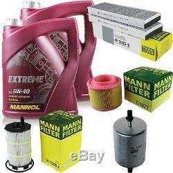 MANNOL 10L Extreme 5W-40 huile moteur + Mann-Filter Audi A6 4F2 C6 S6 Quattro