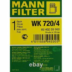 MANNOL 10L Extreme 5W-40 huile moteur + Mann-Filter Audi A6 Toute 4FH C6 4.2