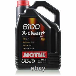 Motul 5 L 5W-30 Huile Moteur + Mann-Filter Audi A6 4B C5 2.5 Tdi Quatro Toute