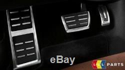 Neuf Véritable Audi A4 A5 Q5 Acier Inoxydable Couvre Pédale Set Kit Automatique