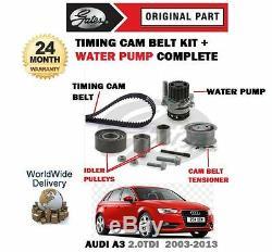 Pour Audi A3 2.0 Tdi 2003-2013 Tendeur Courroie Distribution Kit + Eau Pompe Set
