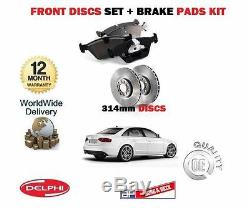 Pour Audi A4 1.8i 2.0i TFSI 2.0TDi 2008- Frein avant Disques Set et Patins Kit