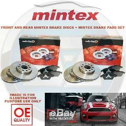 Pour Audi A4 A5 avant Mintex Frein Arrière Disques et Patins Set Kit 314mm 300mm