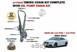 Pour Audi A5 1.8 TFSI 170BHP Cabd 09/2007-2011 Chaîne de Distribution Set + Kit