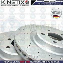 Pour Audi S5 3.0 V6 avant Cross Perforé kinetix Frein Disques Pads Set Kit 345mm