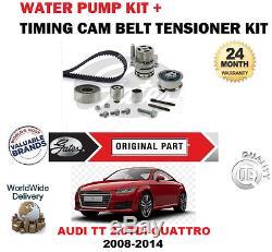 Pour Audi Tt Cbbb Cfgb 8J3 2008-2014 Kit Courroie Distribution et Eau Pompe Set