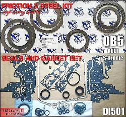 Révision DL501 Friction Acier Joint, Réparation Pièces Vitesse Audi Q5, A4, A5