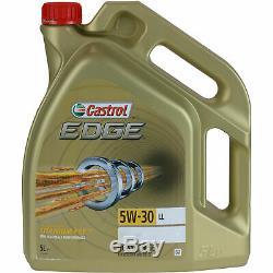 Révision Filtre Castrol 5L Huile 5W30 Pour VW Polo 6R 6C 1.2 TSI 16V