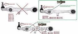 Set avant Kit Bras de Contrôle de Suspension avant Audi A4 A6 1997-2005 16MM