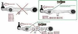Set de Suspension avant Bras de Suspension Kit pour Audi A4 A6 1997-2005 16MM