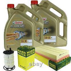 Sketch D'Inspection Filtre Castrol 10L Huile 5W30 pour Audi Q7 4L 4.2 Du FSI