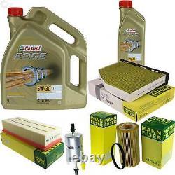 Sketch D'Inspection Filtre Castrol 6L Huile 5W30 pour VW Golf V, 1K1 2.0