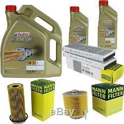 Sketch D'Inspection Filtre Castrol 7L Huile 5W30 pour Audi A6 4F2 C6 3.2 FSI
