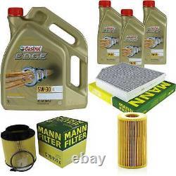 Sketch D'Inspection Filtre Castrol 8L Huile 5W30 pour Audi A5 Cabriolet 8F7 S5