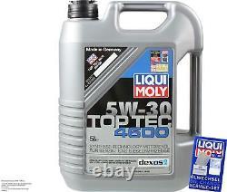 Sketch D'Inspection Filtre Huile Liqui Moly 7L 5W-30 pour Audi A8 4E 3.2 FSI
